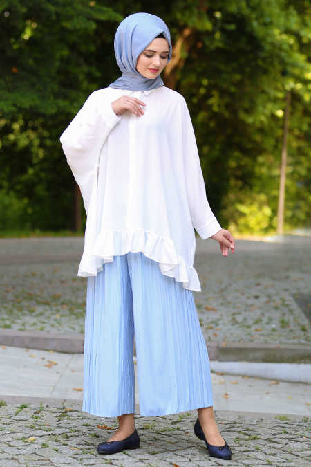 Neva Style - Baby Blue Hijab Pants 90630BM