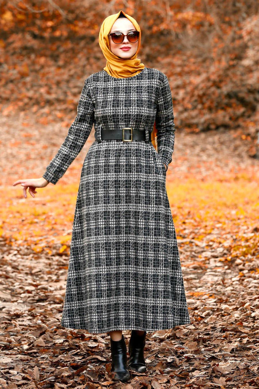 Neva Style - Black Hijab Dress 1600S