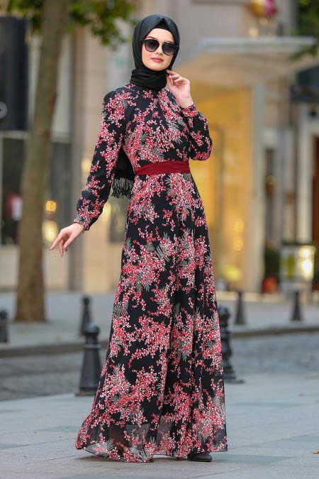 Neva Style - Black Hijab Dress 81527S