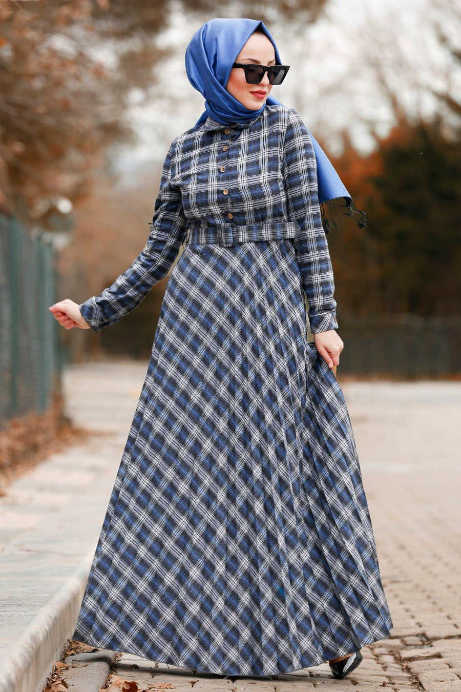 Neva Style - Black Hijab Dress 83741S