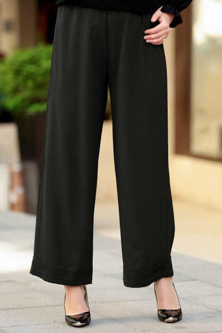 Neva Style - Black Hijab Pants 8122S