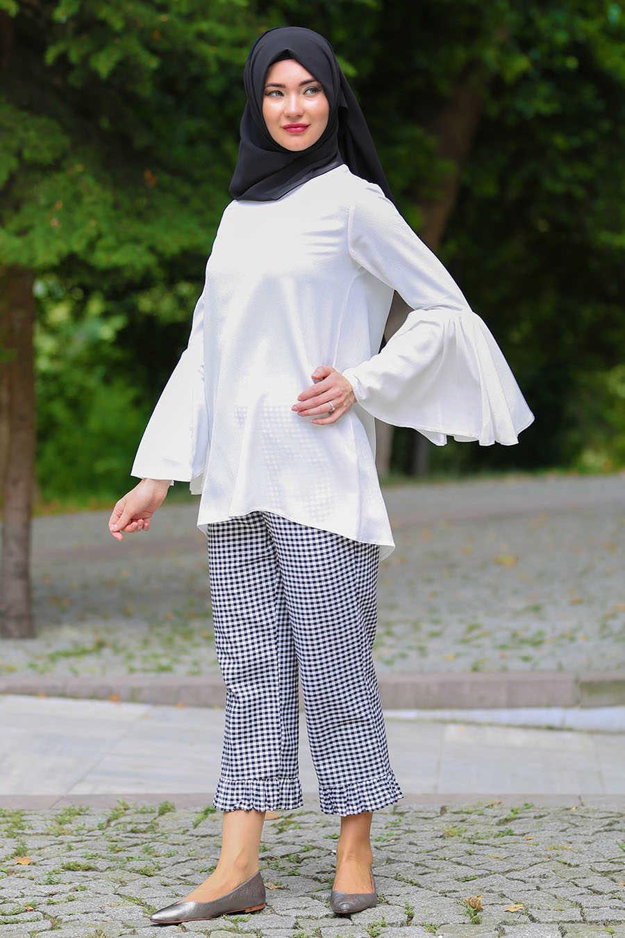 Neva Style - Black Hijab Pants 90650S