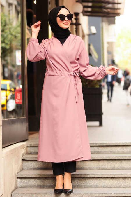 Neva Style - Dusty Rose Hijab Abaya 5466GK