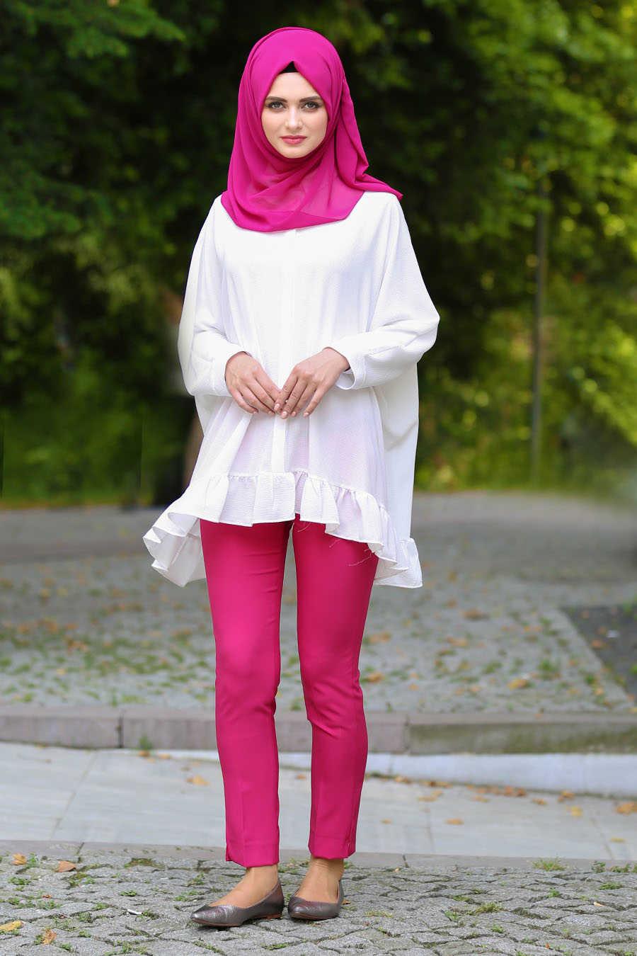 Neva Style - Fuchsia Hijab Pants 6051F