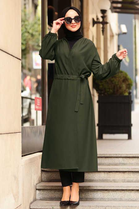 Neva Style - Khaki Hijab Abaya 5466HK