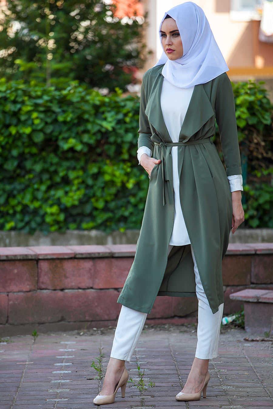 Neva Style - Khaki Hijab Abaya 6128HK