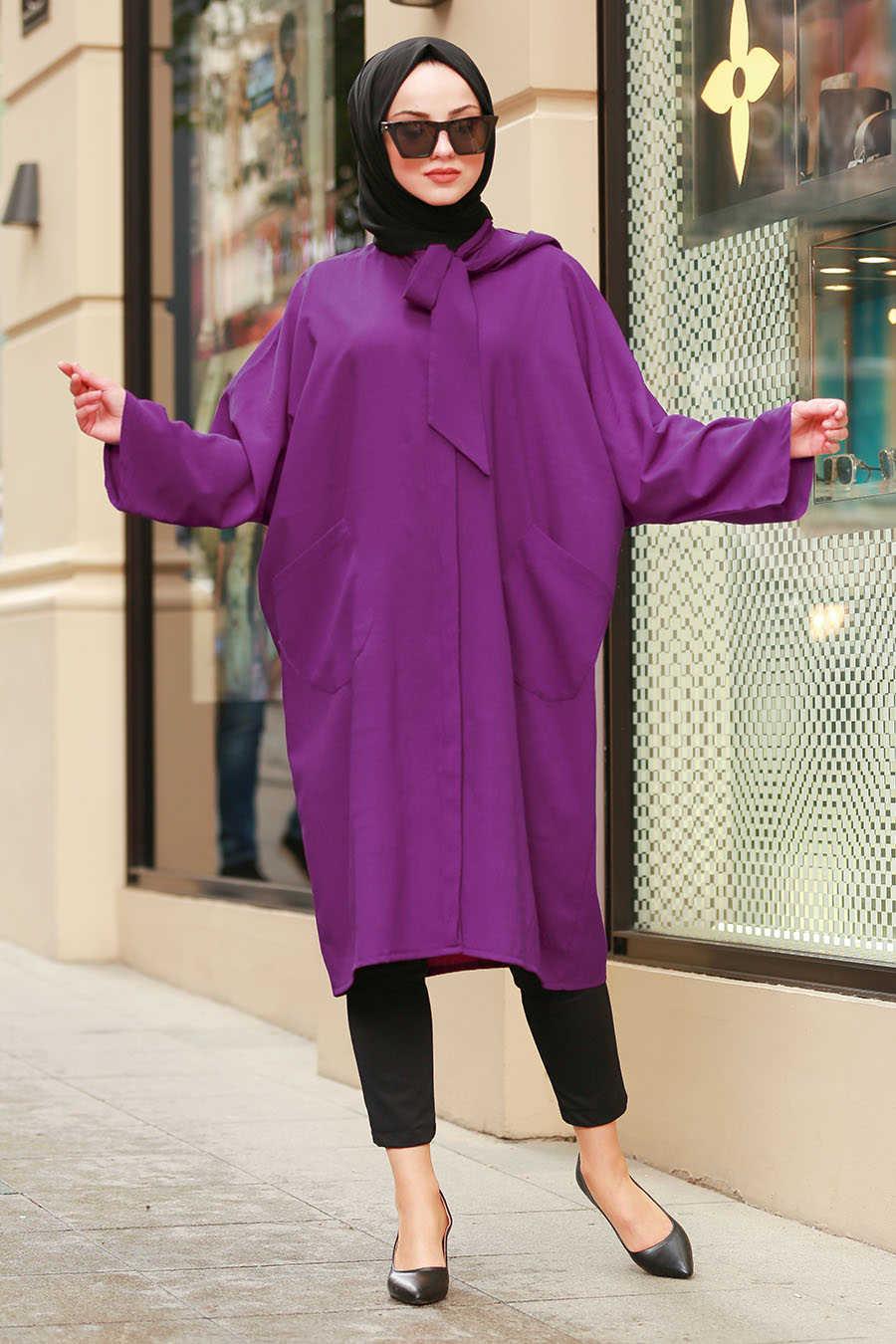 Neva Style - Purple Hijab Tunic 5003MOR