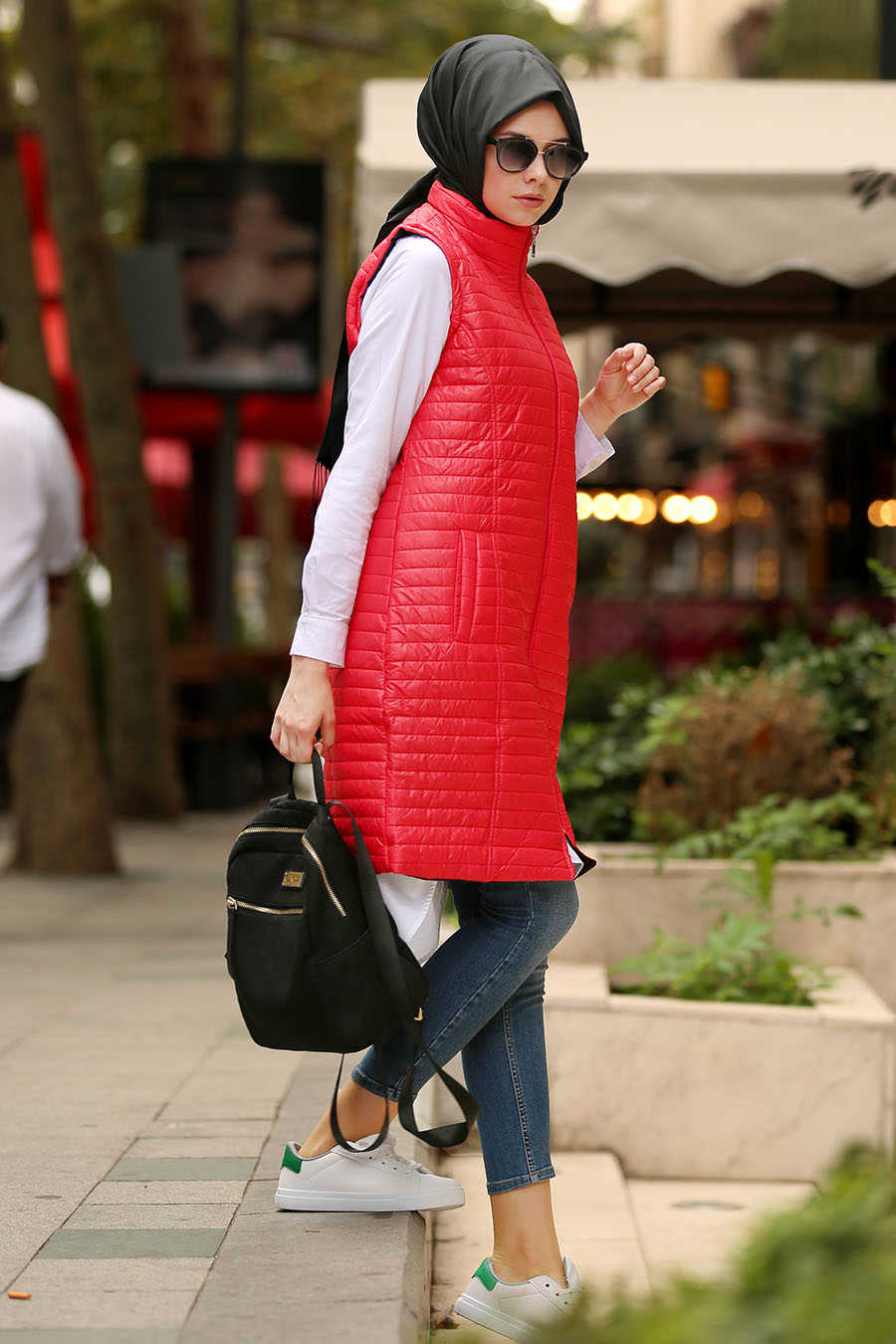 Neva Style - Red Hijab Coat 5001K