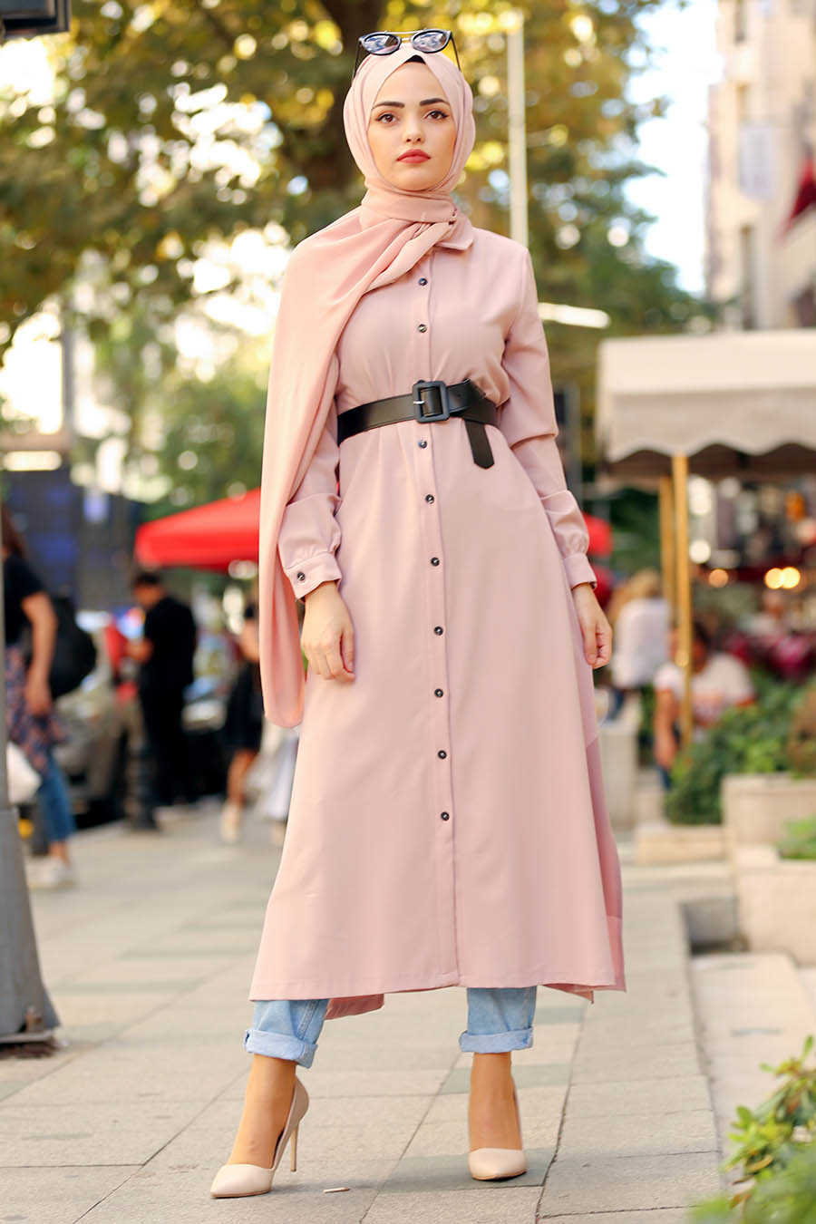 Neva Style - Salmon Pink Hijab Tunic 22370SMN