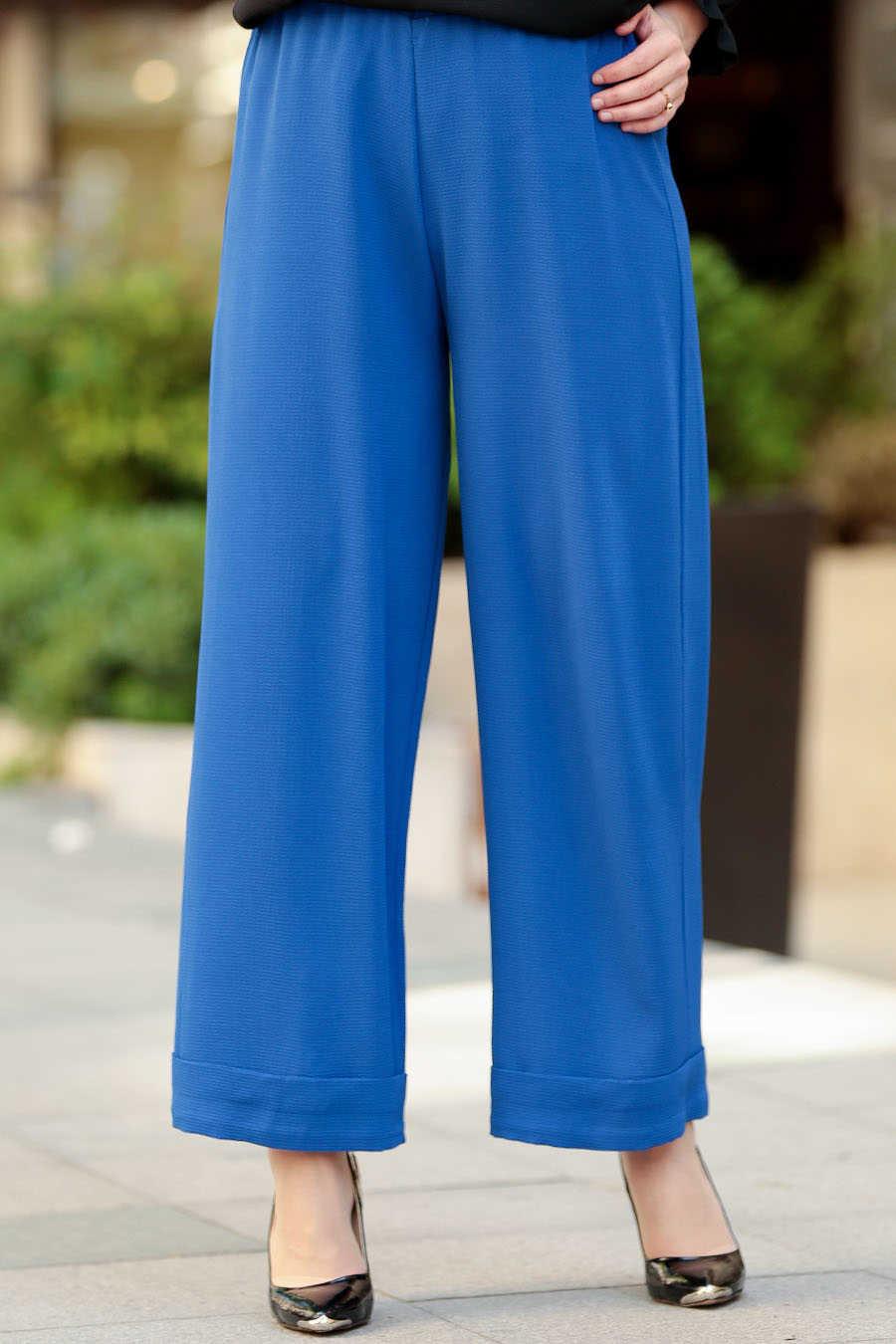 Neva Style - Sax Blue Hijab Pants 8122SX