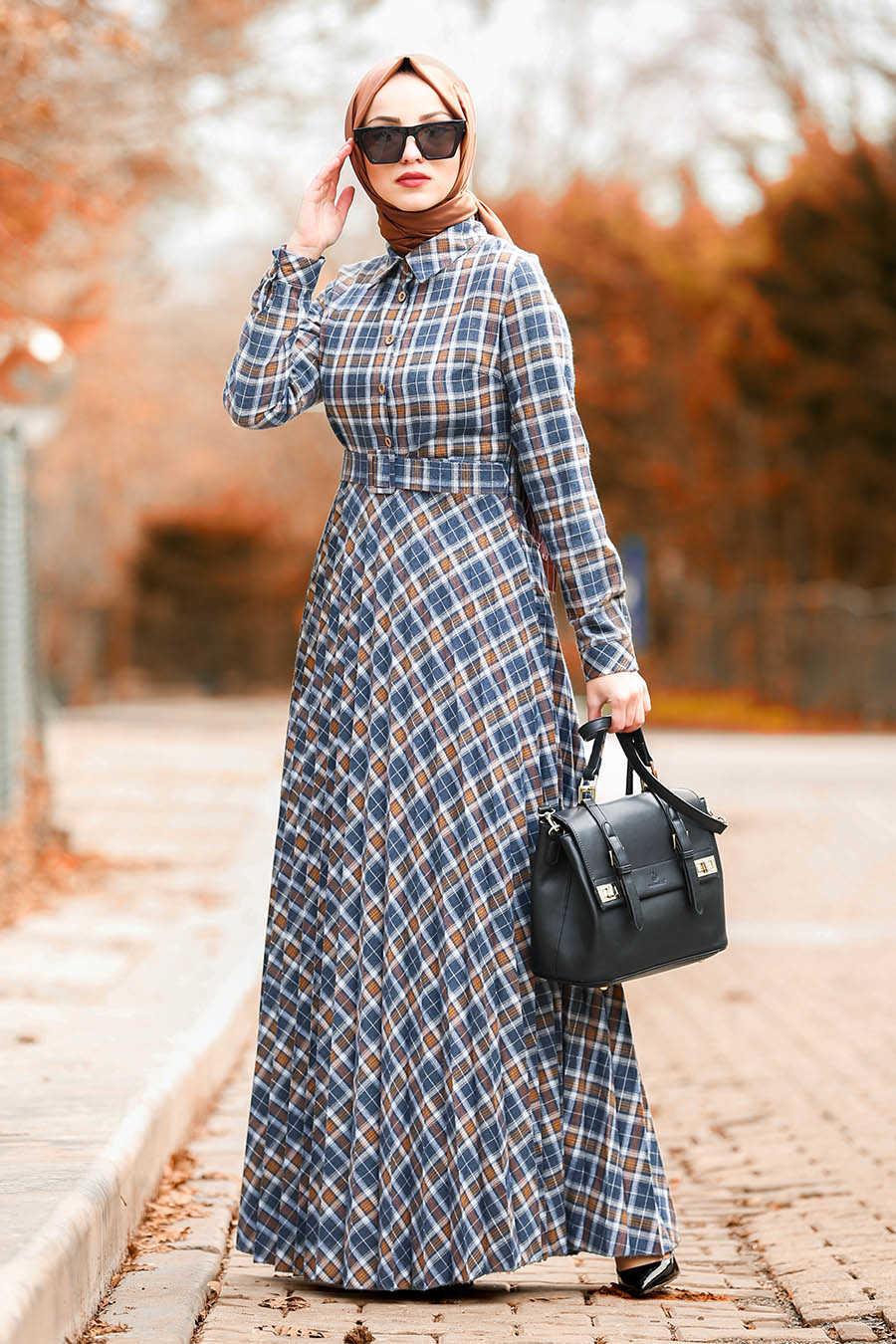 Neva Style - Snuff Colored Hijab Dress 83740TB