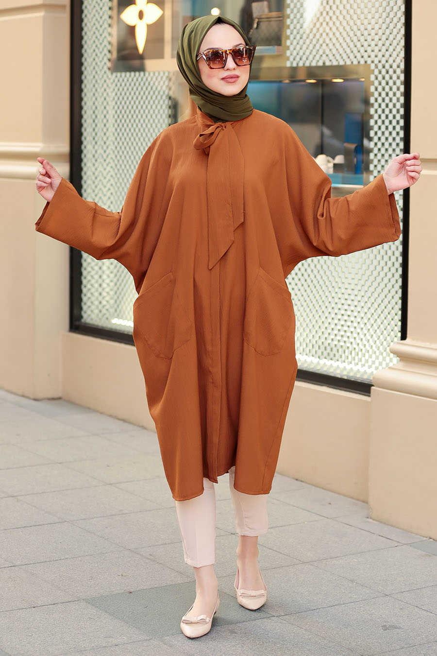 Neva Style - Snuff Colored Hijab Tunic 5003TB