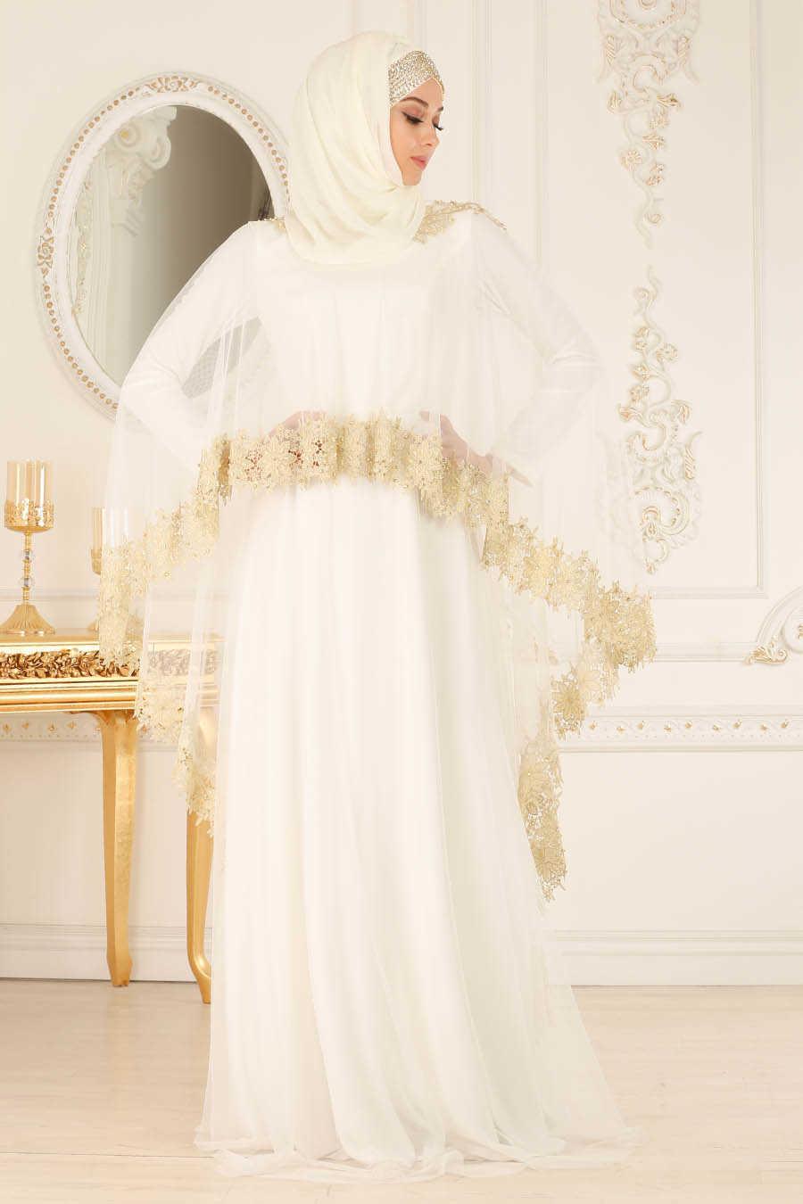 01d6db8cd388 Neva Style - White Hijab Evening Dress 2012B - Neva-style.com