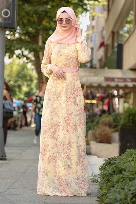Neva Style - Yellow Hijab Dress 81527SR