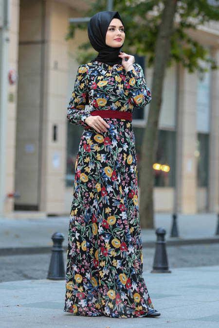 Neva Style - Yellow Hijab Dress 81528SR