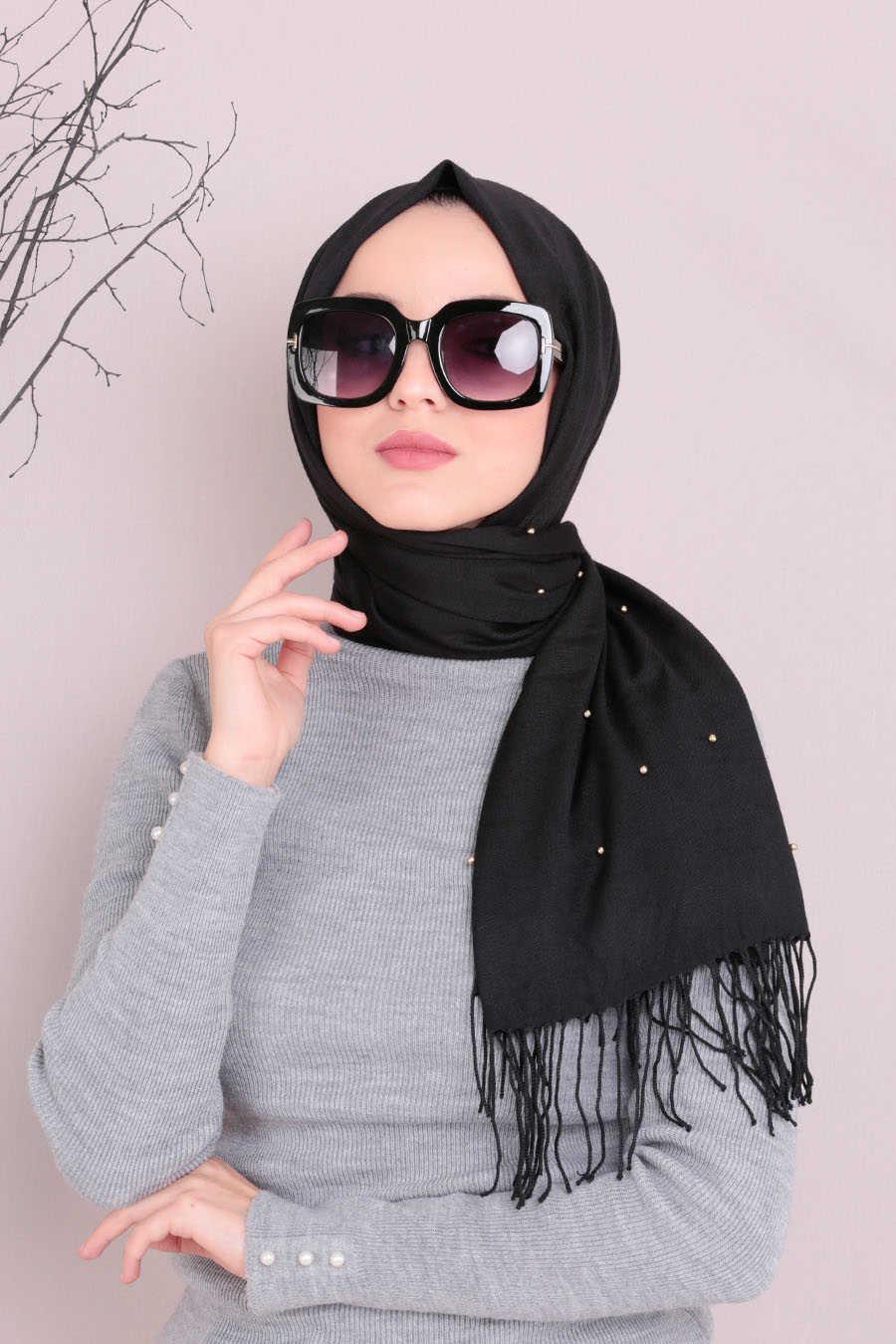 Shawl - Neva Style Black Shawl 7492S