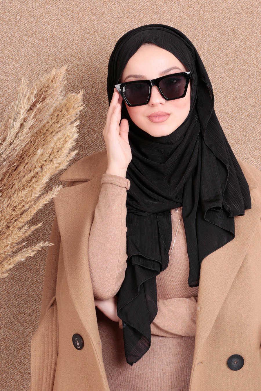 Shawl - Neva Style Black Shawl 7494S