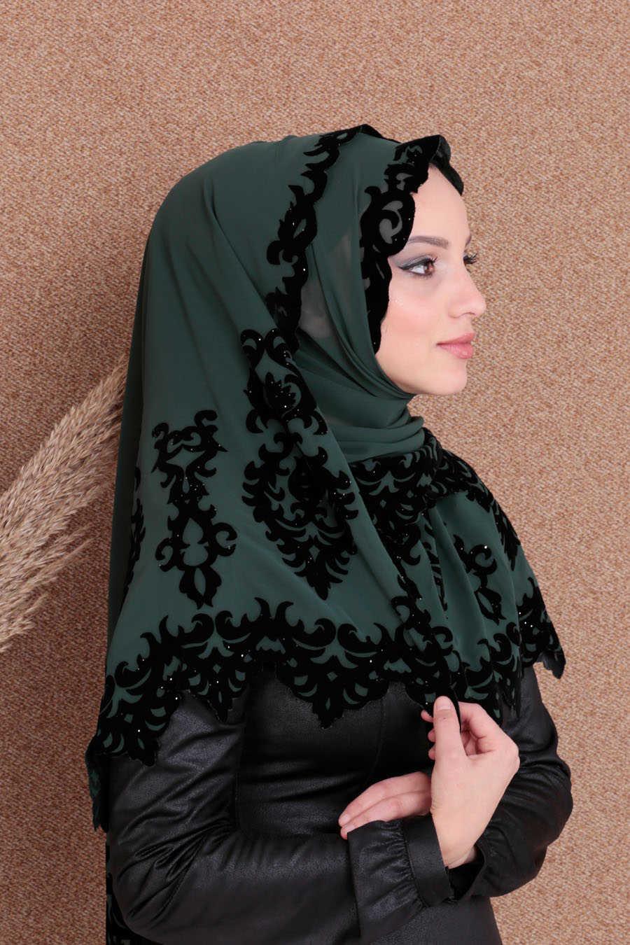 Shawl - Neva Style Green Shawl 7493Y