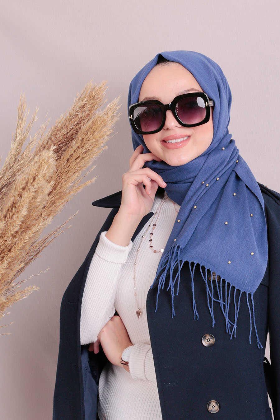 Shawl - Neva Style Indigo Blue Shawl 7492IM