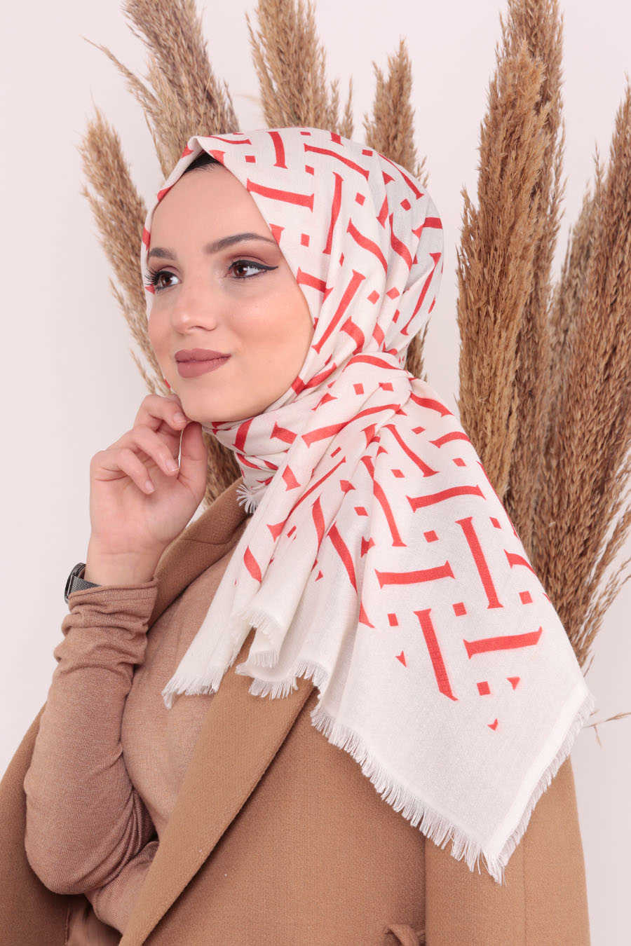 Shawl - Neva Style Orange Shawl 7487T