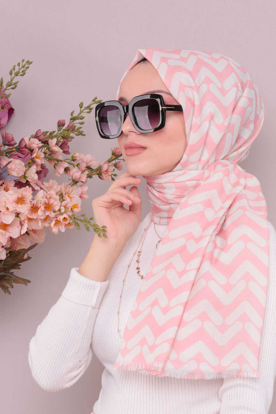 Shawl - Neva Style Powder Pink Shawl 7488PD