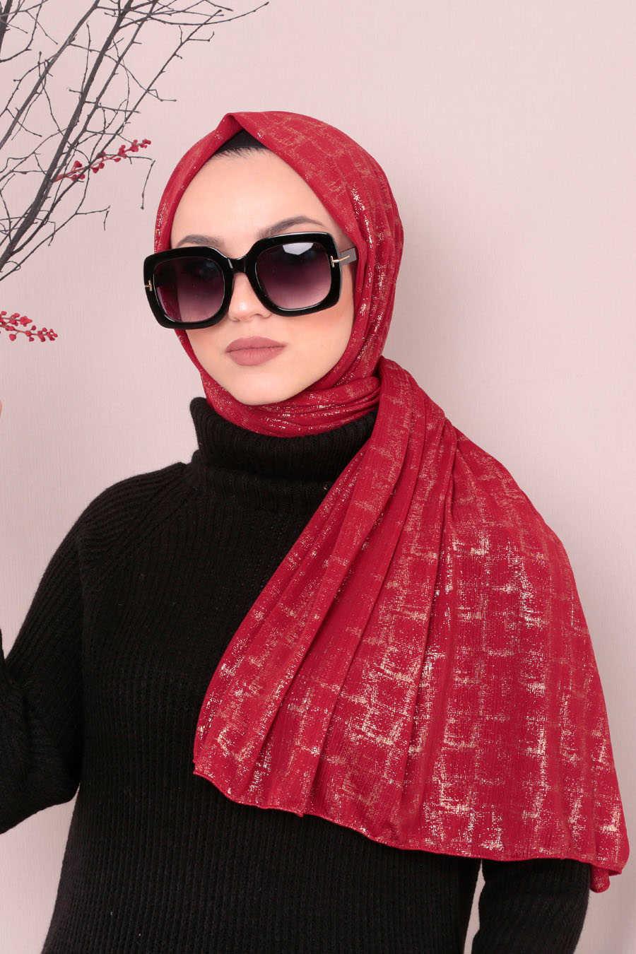Shawl - Neva Style Red Shawl 7495K