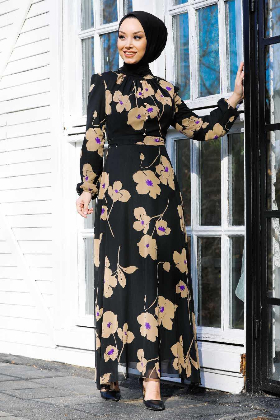 Beige Hijab Dress 81392BEJ