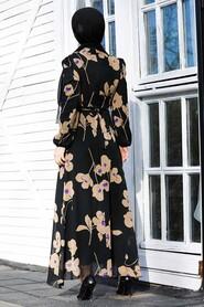 Beige Hijab Dress 81392BEJ - Thumbnail