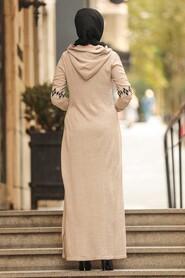 Beige Hijap Dress 2243BEJ - Thumbnail