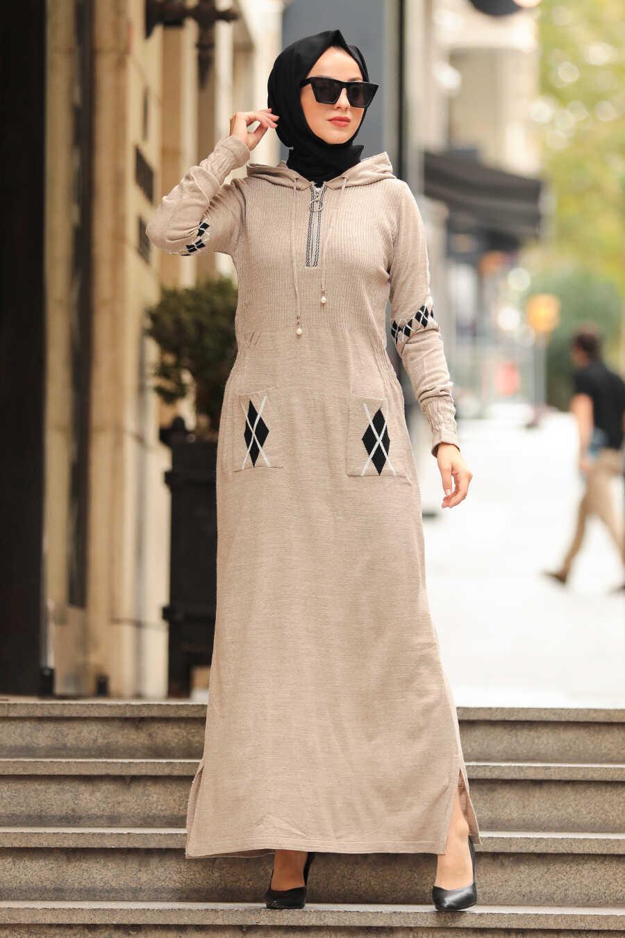 Beige Hijap Dress 2243BEJ