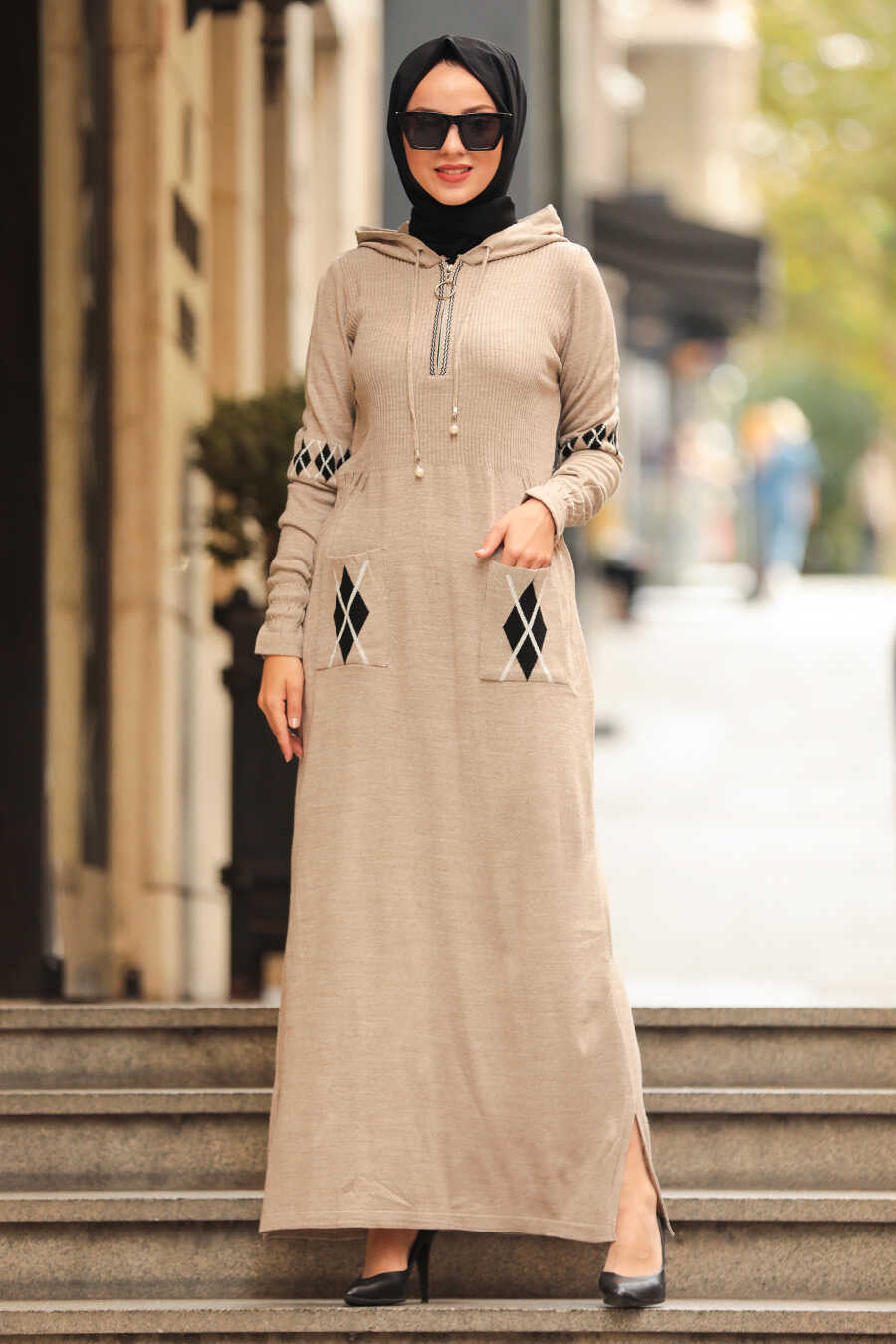 Beige Hijap Dress 2243BEJ
