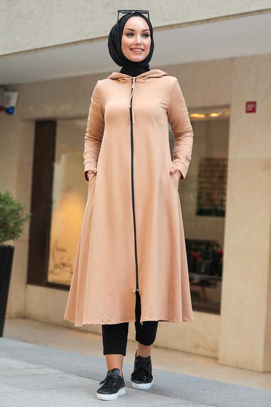 Biscuit Hijab Coat 22560BS