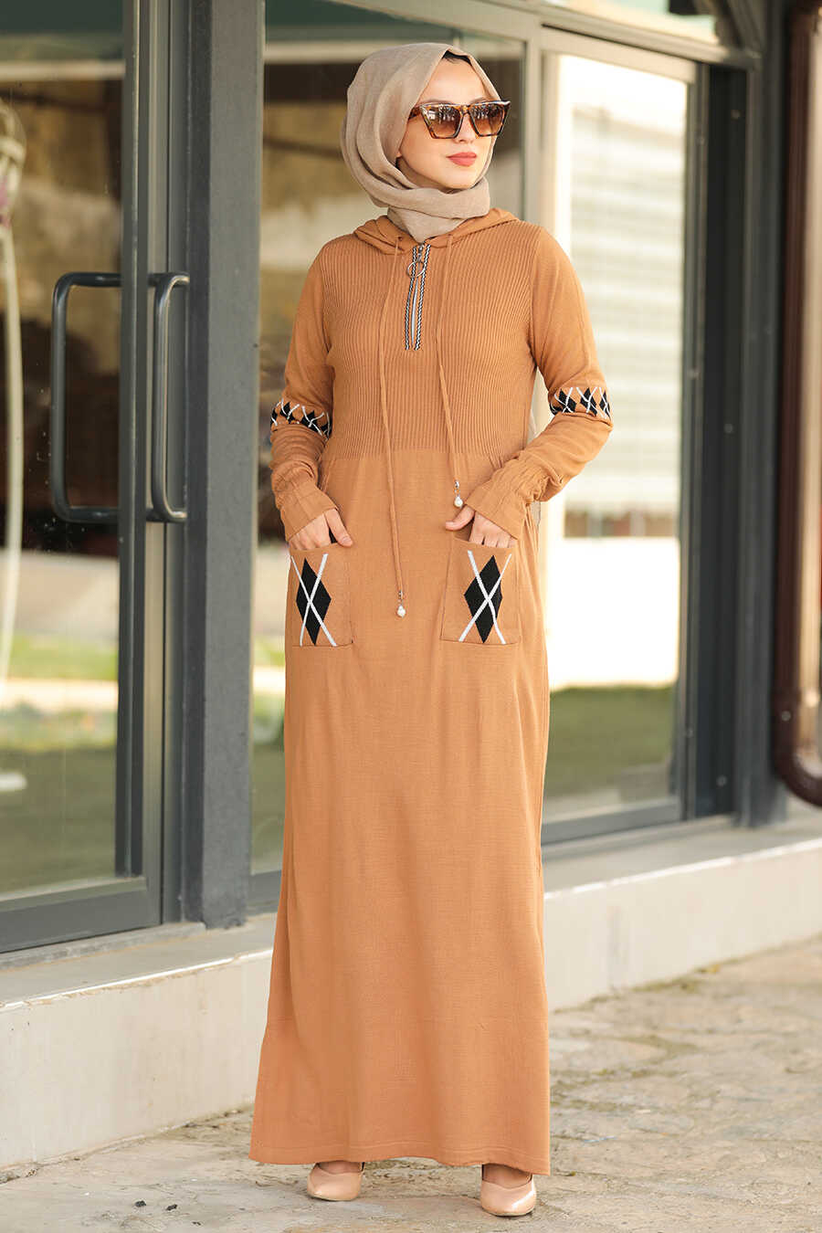 Biscuit Hijab Dress 2243BS