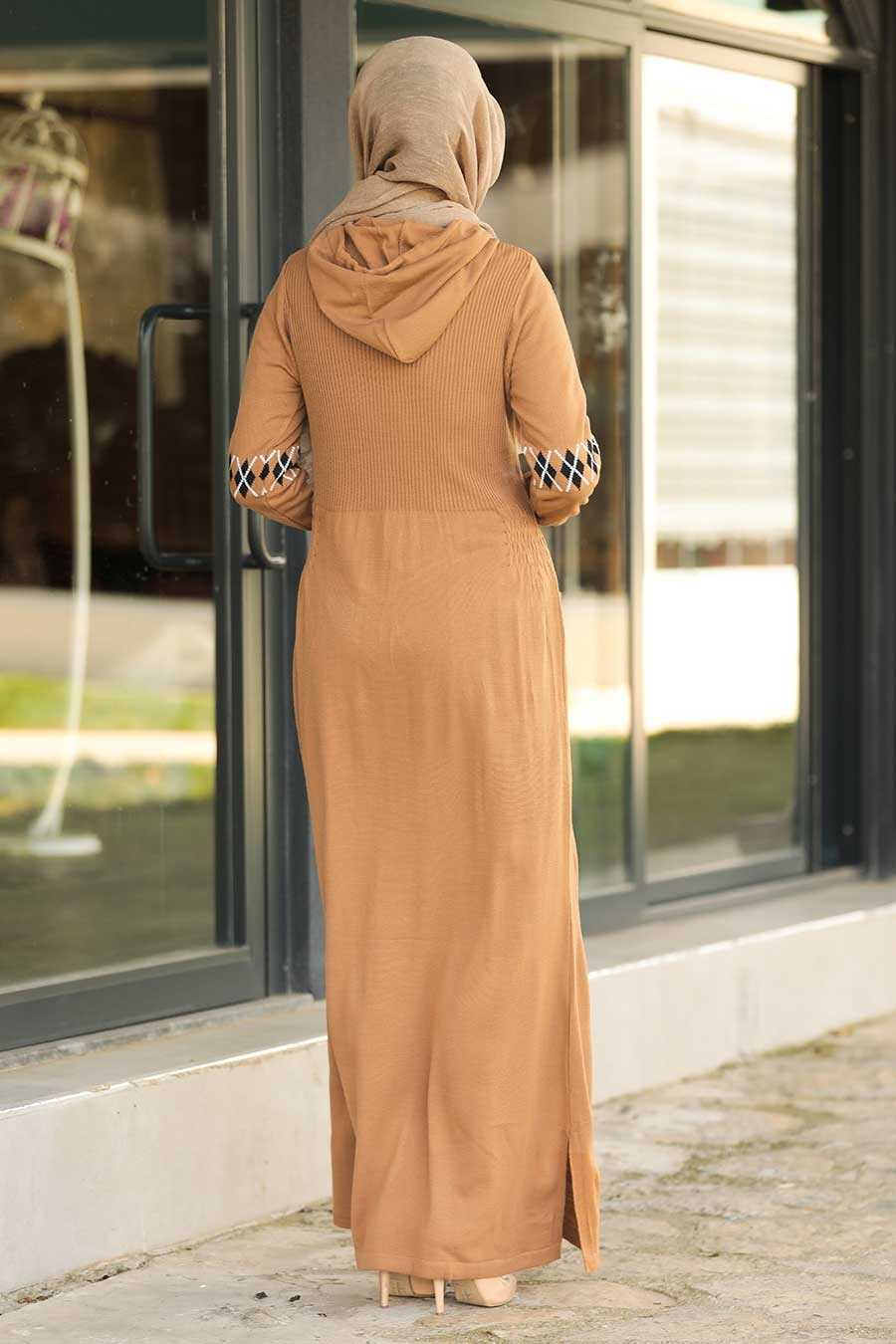 Biscuit Hijab Dress 2243BS