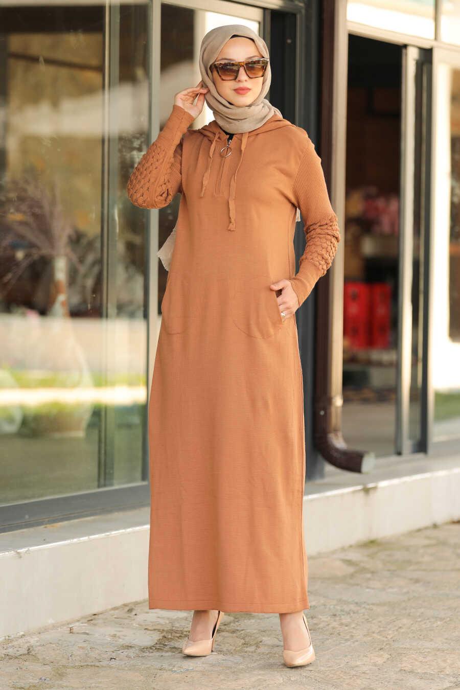 Biscuit Hijab Dress 2343BS