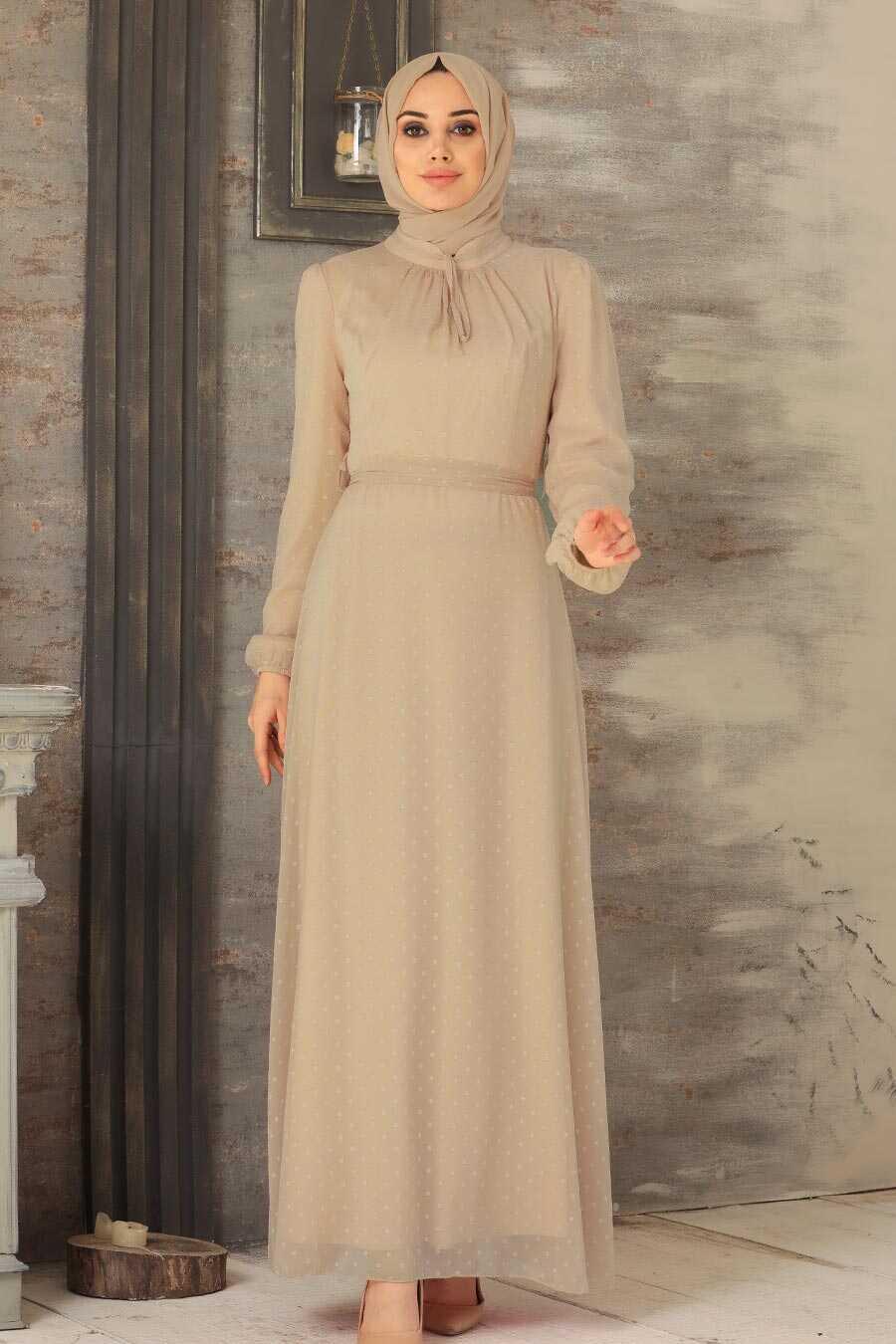 Biscuit Hijab Dress 2734BS
