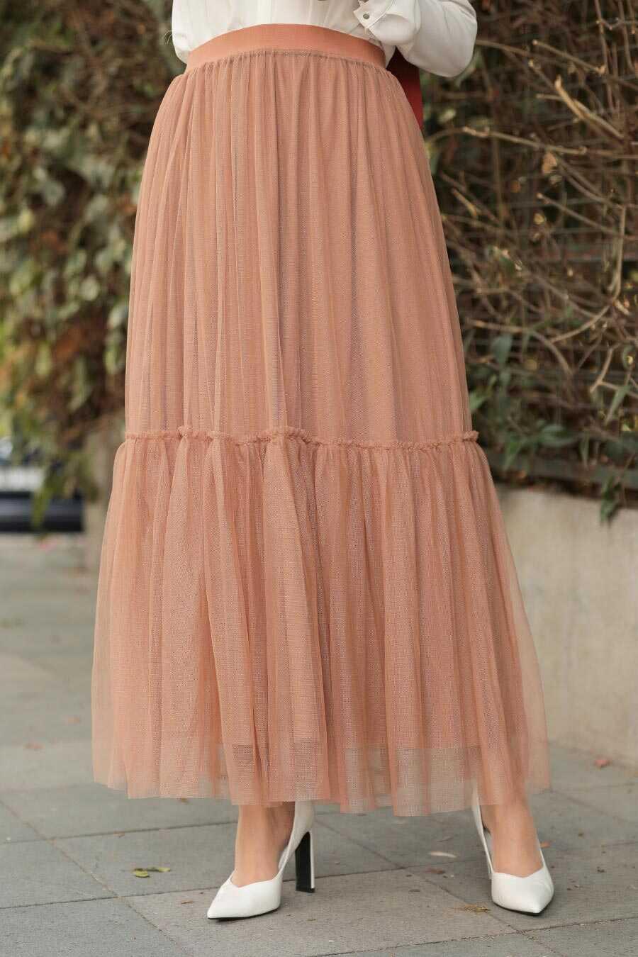 Biscuit Hijab Skirt 18580BS