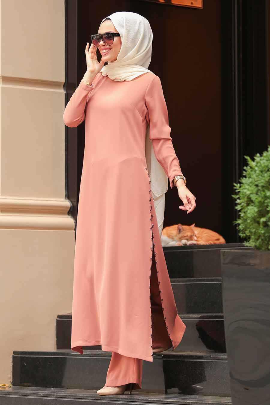 Black Dual Hijab Suit 30050S