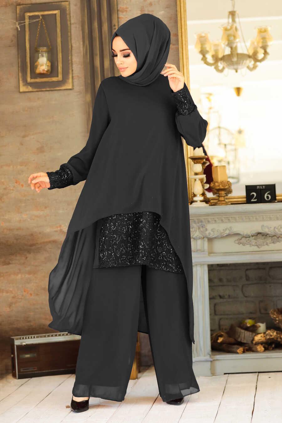 Black Dual Suit Dress 50053S