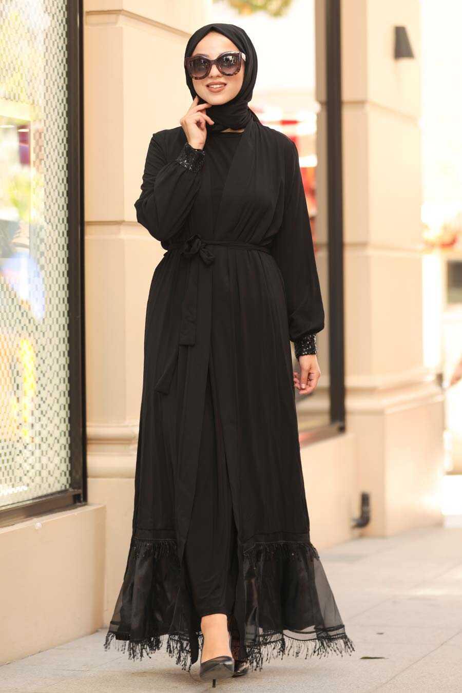 Black Hijab Abaya 9149S