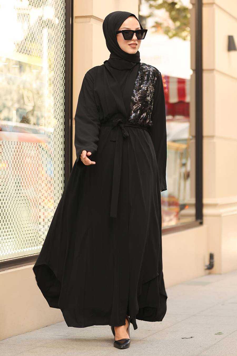 Black Hijab Abaya 9173S