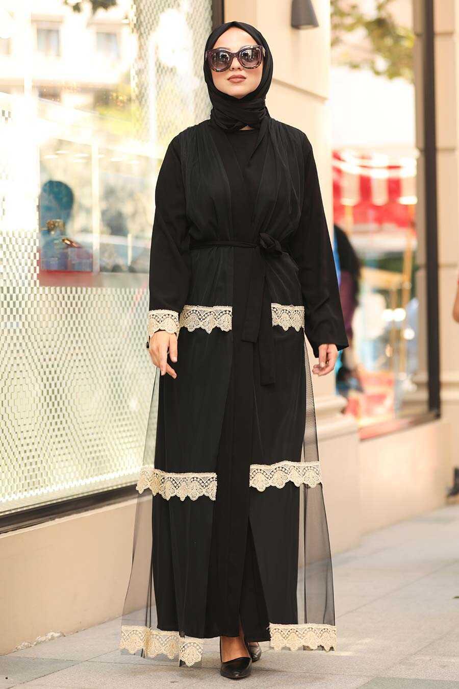 Black Hijab Abaya 9197S