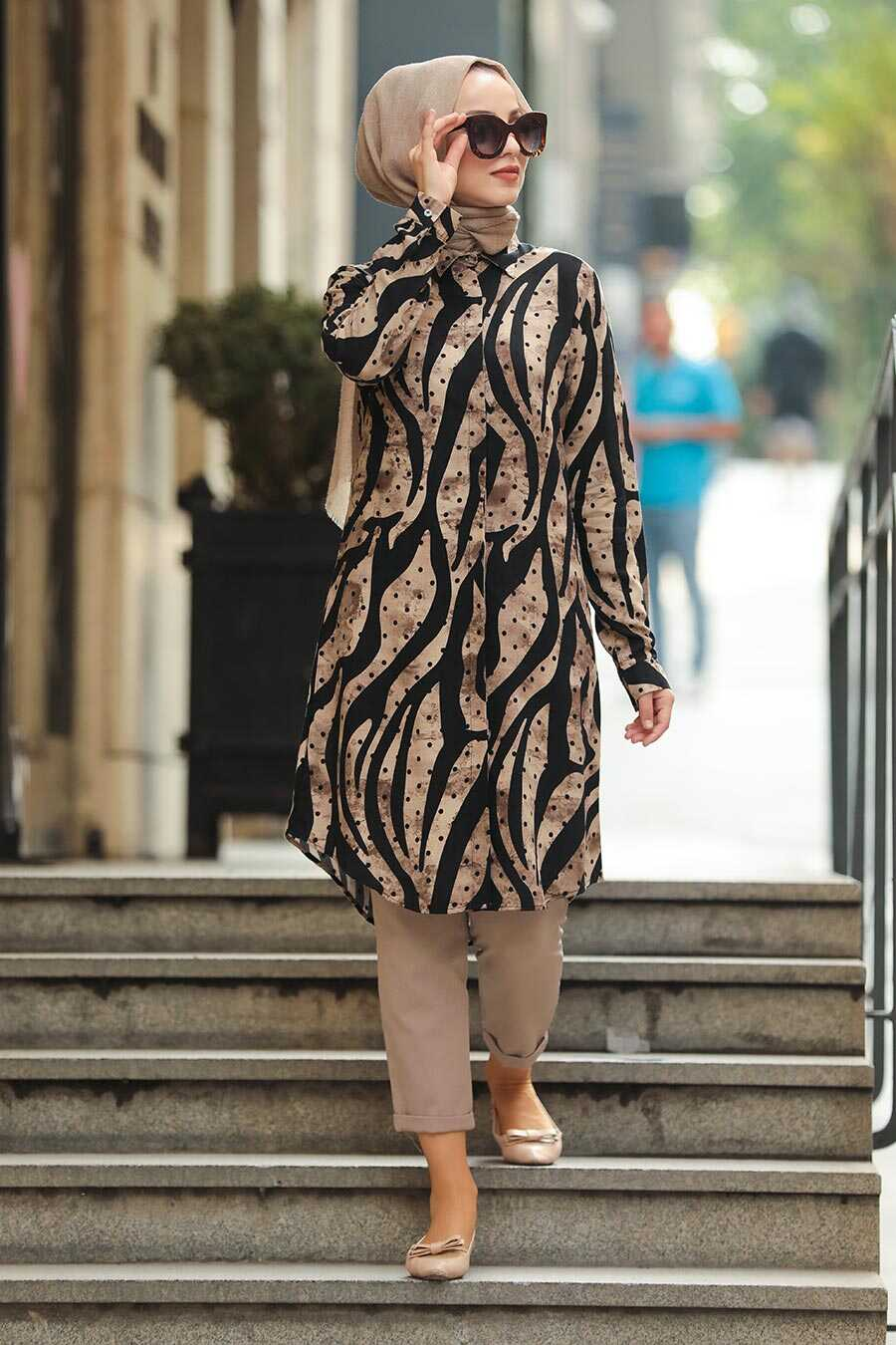 Black Hijab Daily Dress 11520S