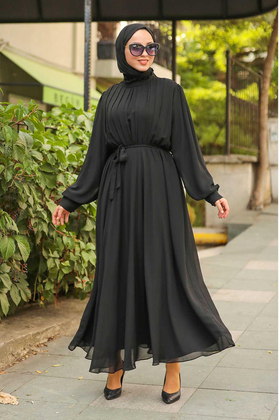 Black Hijab Dress 1273S
