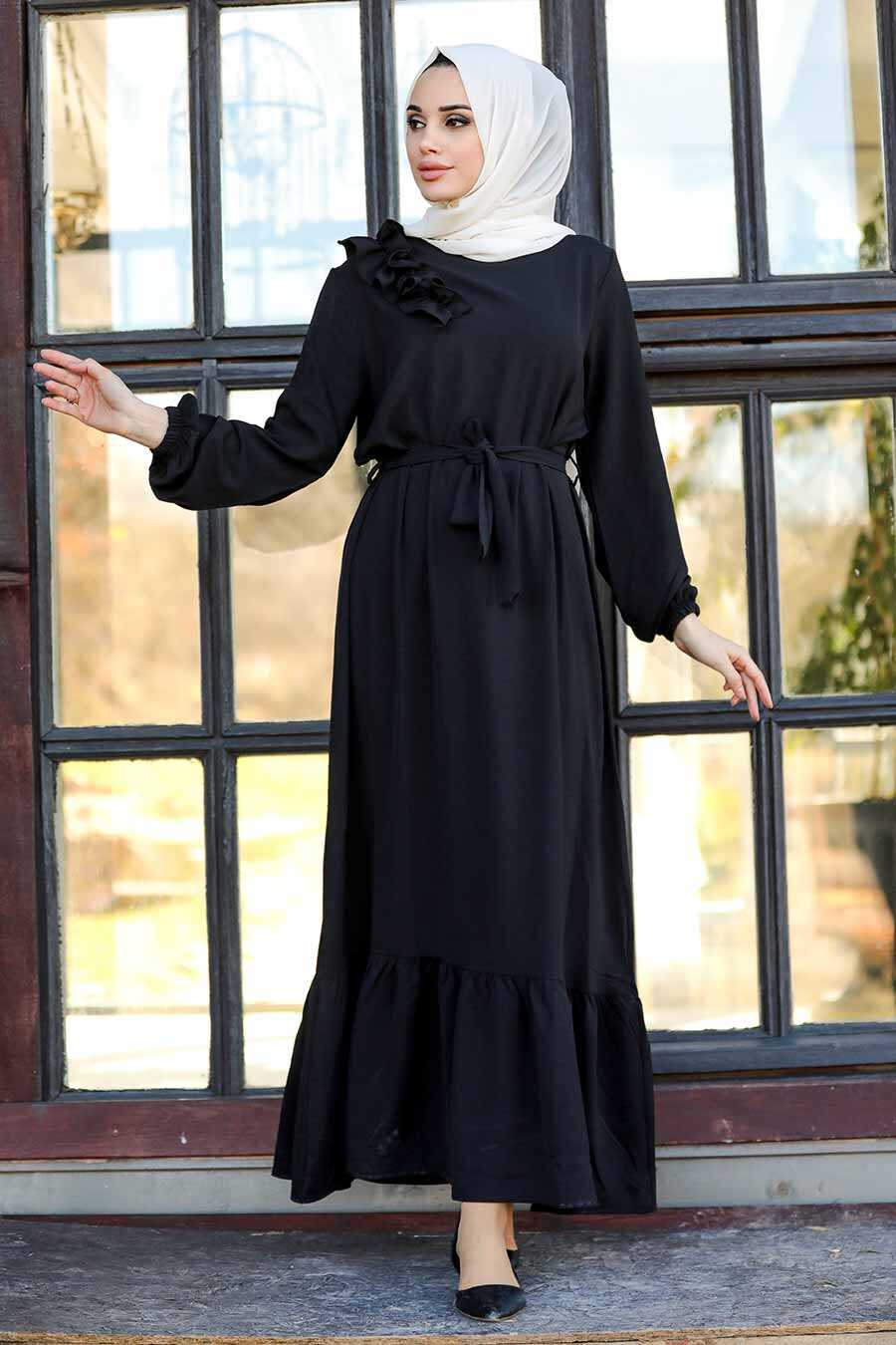Black Hijab Dress 1429S