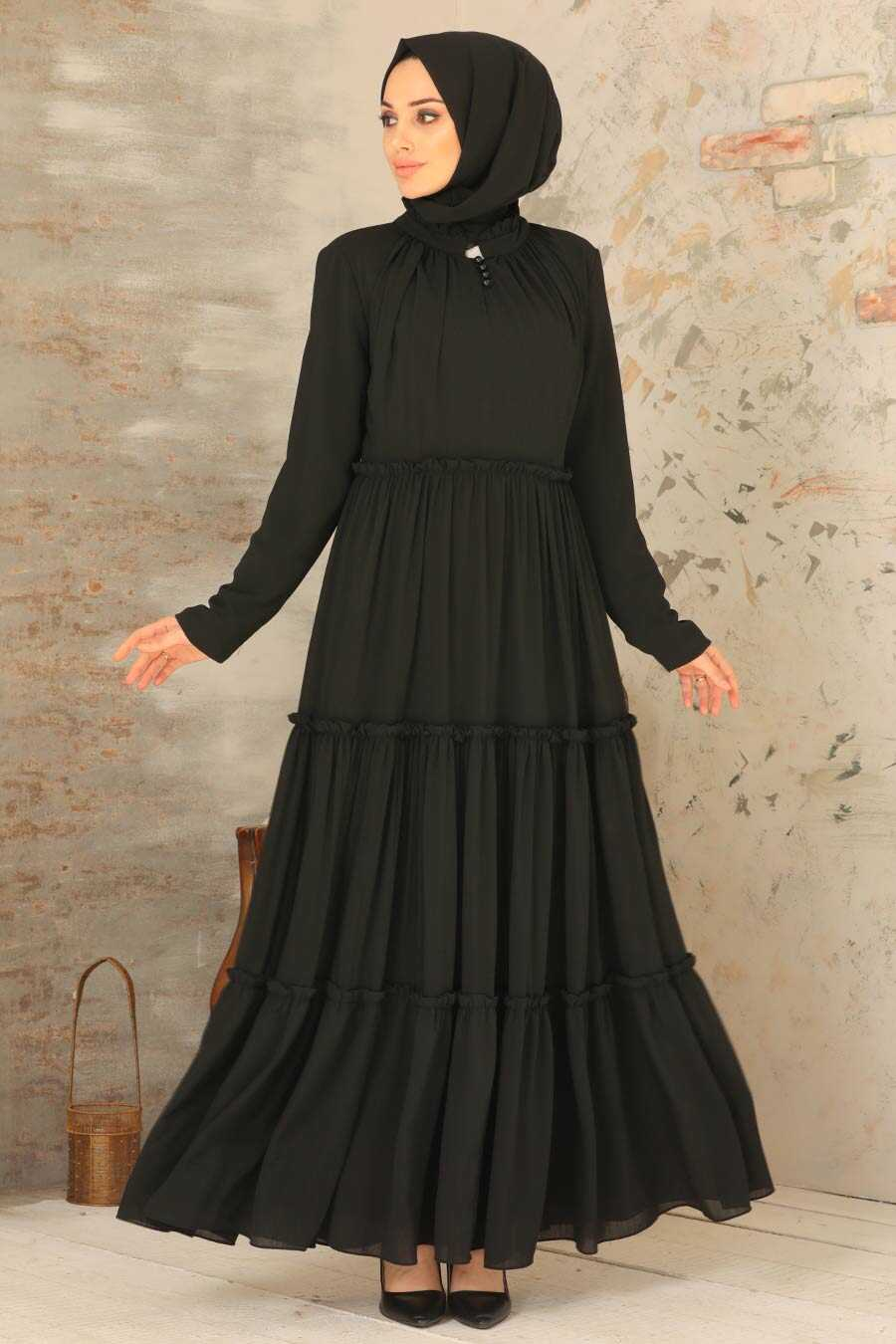Black Hijab Dress 2746S