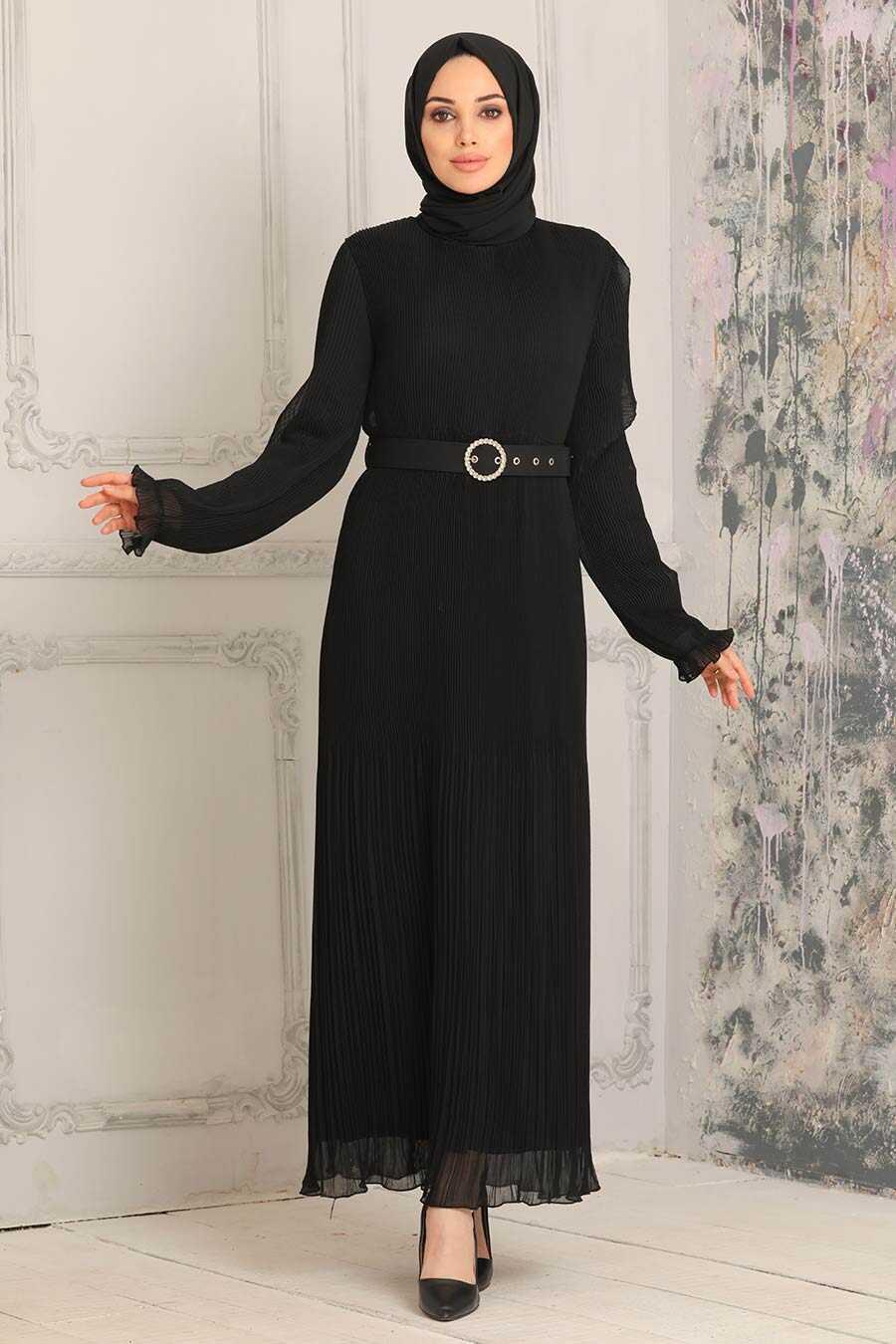 Black Hijab Dress 2751S