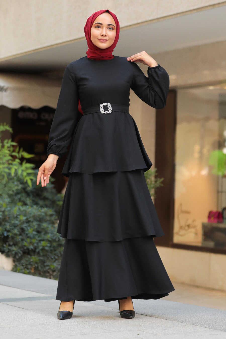 Black Hijab Dress 5171S