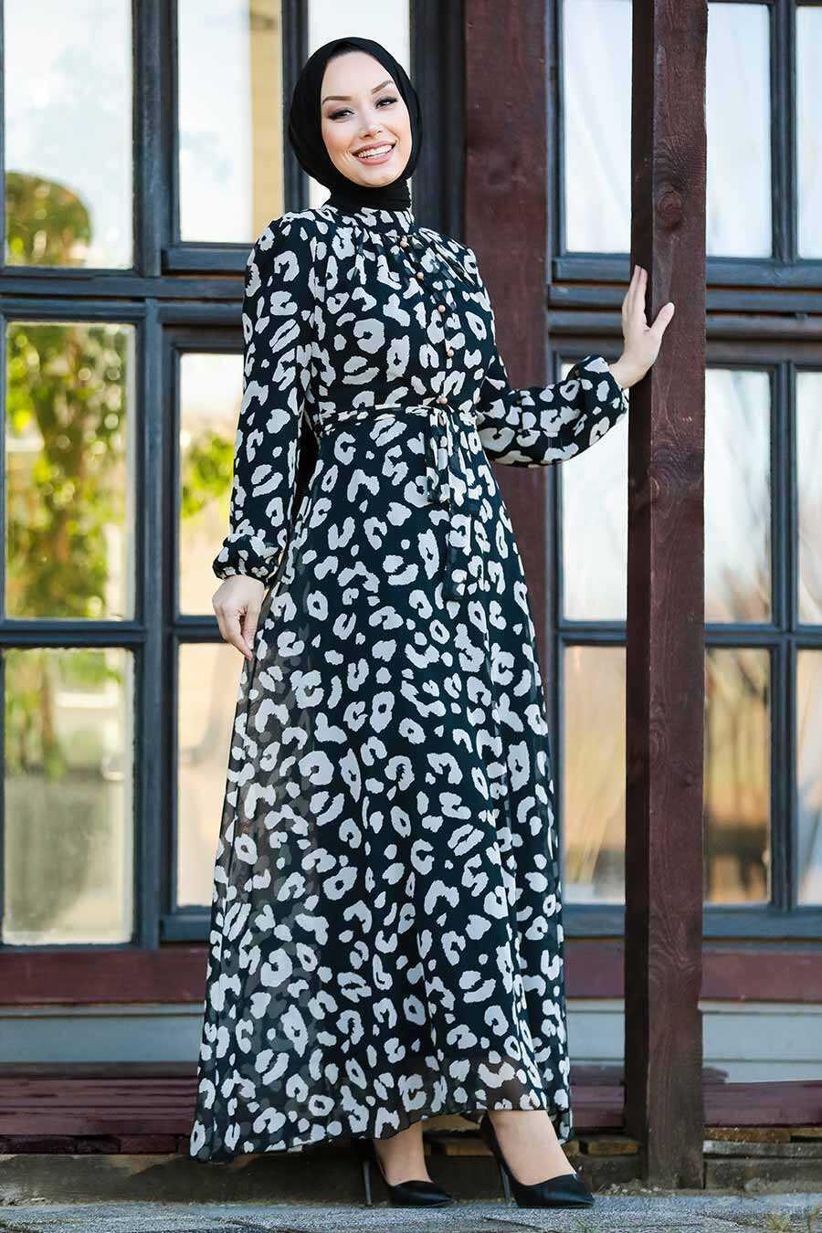 Black Hijab Dress 81391S