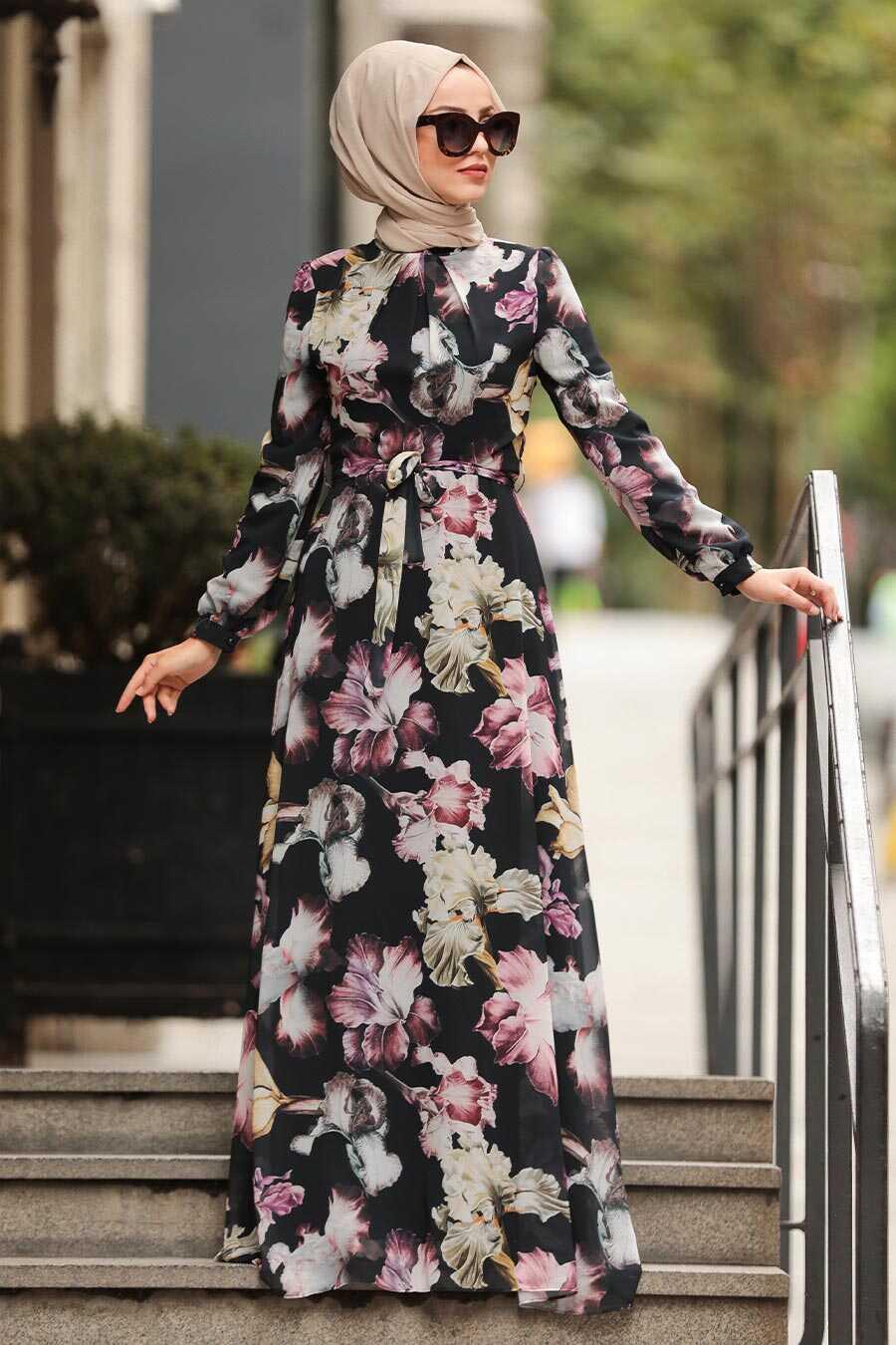 Black Hijab Dress 815403S